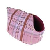 Teddy Maximus - Pink Shetland Wool Luxury Dog Carrier