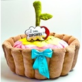 Cupcake Dog Bed with Dog Toys 2