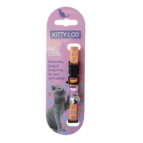 Snag & Snap-Free Cat Collar - Orange