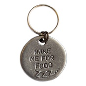 Mutts & Hounds - Wake Me For Food Slogan Dog ID Tag