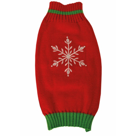 Snowflake Knitted Dog Jumper