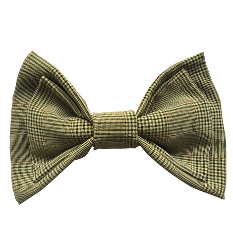 Brown Check Dog Bow Tie 2