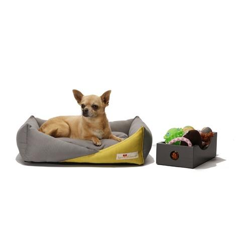 Bonheur Modern Dog Bed - Nickel