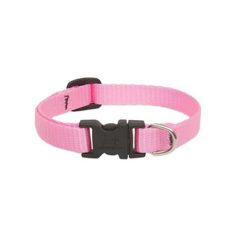 "1/2"" Width Pink Lupine Dog Collar"