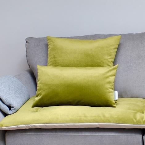 Velvet Scatter Cushion - Grass