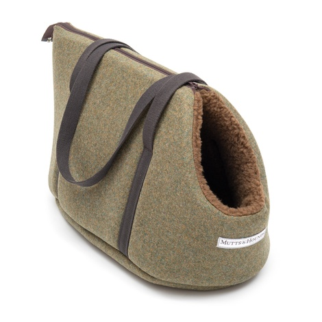 Forest Green Tweed Dog Carrier 3