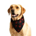 Red Skulls Dog Bandana