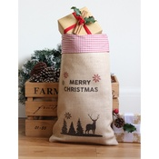 Handcrafted Christmas - Comet – Medium Christmas Sack with Red Gingham Trim