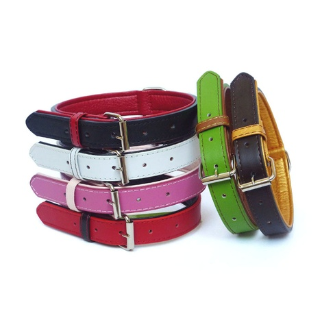 Fusion Pink Leather Dog Collar  2
