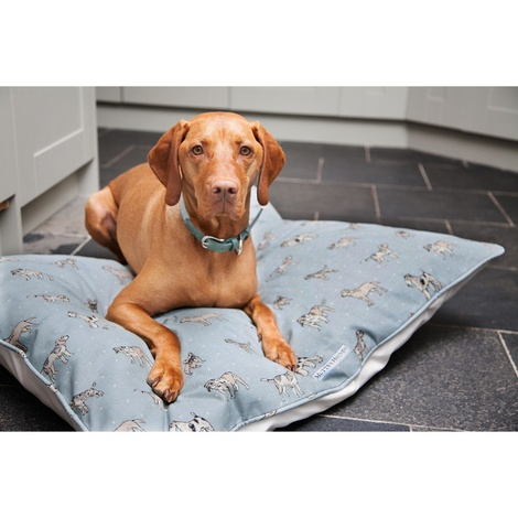 Dog Print Duck Egg Pillow Bed 4