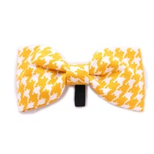 Pet Pooch Boutique - Yellow Houndstooth Bow Tie