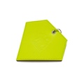 Leather Diamond Poo Bag Pouch - Neon Yellow