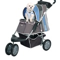 First Class Dog Buggy - Blue/Grey