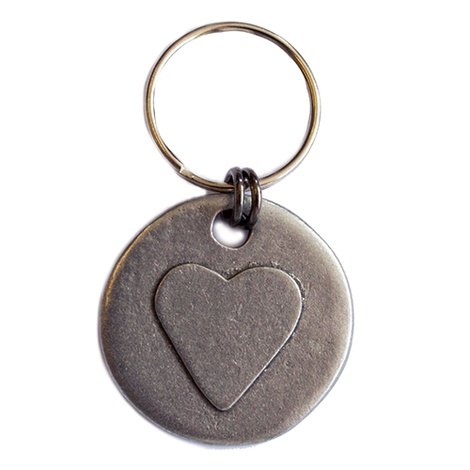 Heart Dog ID Tag
