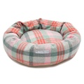Macaroon Check Tweed Donut Dog Bed 3