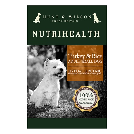 NutriHealth Adult Small Dog Turkey & Rice 12kg 2