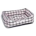 Pink Tartan Dog Bed