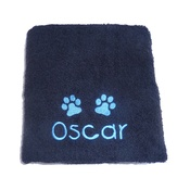 My Posh Paws - Personalised Pet Towel - Black