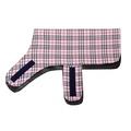 Personalised Pink Check Dog Coat 2