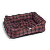 Pet Pooch Boutique - Red & Black Tartan Dog Bed