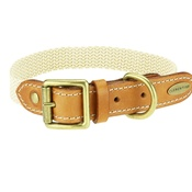 Clementine est. Dogs - Astor Webbing Dog Collar – Tan