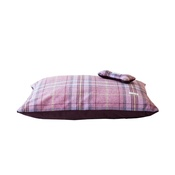 Teddy Maximus - Pink Shetland Wool Luxury Lounging Dog Bed Cushion