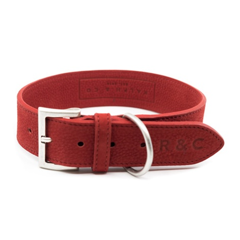 Nubuck dog collar - Como
