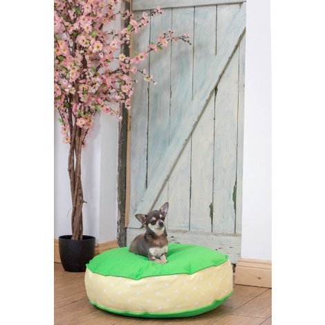 Bon Bon Soft Dog Bed - Green Spot 3