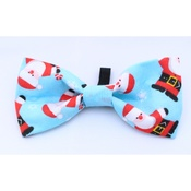Pet Pooch Boutique - Blue Santa Bow Tie