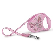 Flexi - Flexi Glam Retractable Dog Lead – Pink Butterfly