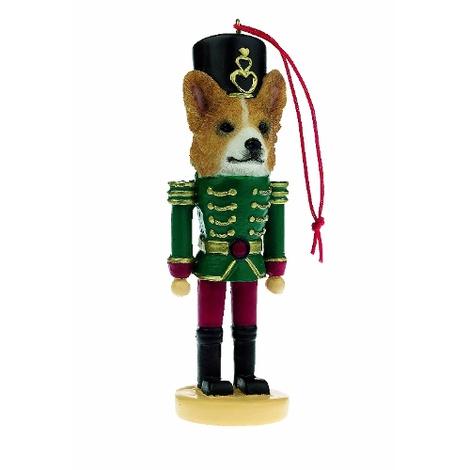 Welsh Corgi Nutcracker Soldier Ornament