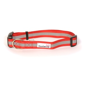 Bold Reflective Dog Collar – Red