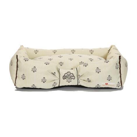 Cantatis Dog Bed - Ivory & Tan 2