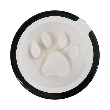 FelliPet Kaleido Good Manners Dog Bowl – White & Black 2