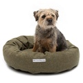 Forest Green Tweed Donut Bed 2