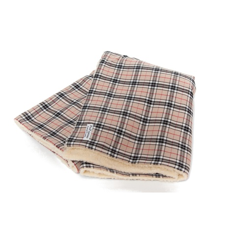 Check Mate - Beige Pet Blanket