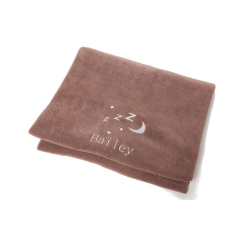 Personalised Chocolate Snooze Pet Blanket - Classic