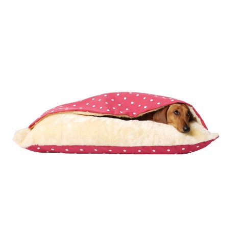 Snuggle Bed - Dotty Raspberry 2