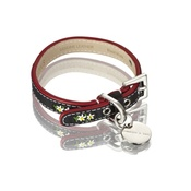 Hennessy & Sons - Edelweiss Leather Dog Collar – Swiss Black
