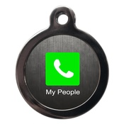 PS Pet Tags - Call My People Dog ID Tag
