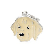 My Family - Golden Retriever Engraved ID Tag