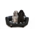 Oxford 2 Leather Pet Bed - Moonlight Black 3