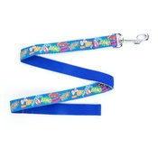 "Pet Pooch Boutique - Pow! Cartoon Lead - Blue 1"" Width"