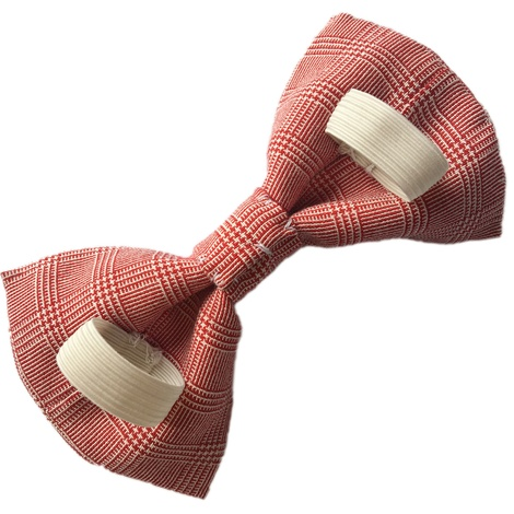 Red Check Dog Bow Tie 2
