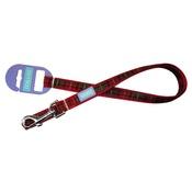 Hem & Boo - Tartan Adjustable Dog Lead - Red