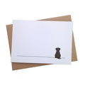 Set of 12 Sitting Dog Notecards