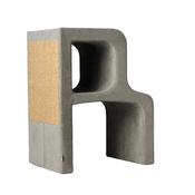 Catworks - Scratching Post - Letter R - Grey