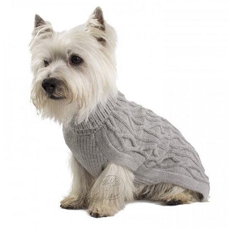 Silver Bliss Baby Alpaca Dog Jumper 2