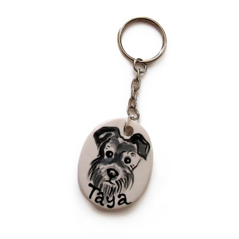 Personalised Portrait Keyring or Bag Charm