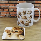 WithLoveFrom - Personalised Mug and Coaster Set - My Cat